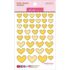 Cœurs autocollants en 3D Puffy stickers Jaune BELL PEPPER MIX