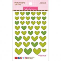 Cœurs autocollants en 3D Puffy stickers Vert PICKLE JUICE MIX