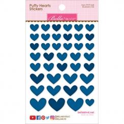 Cœurs autocollants en 3D Puffy stickers Bleu foncé BLUEBERRY MIX
