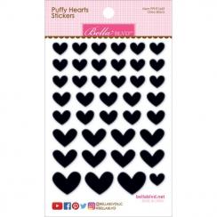 Cœurs autocollants en 3D Puffy stickers Noir OREO BLACK