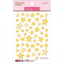 Etoiles autocollantes en 3D Puffy stickers Jaune BELL PEPPER MIX
