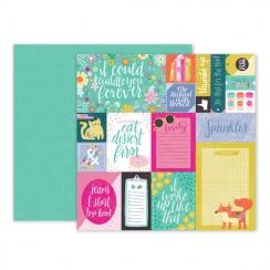 Papier imprimé OH MY HEART 01 par Pink Paislee. Scrapbooking et loisirs créatifs. Livraison rapide et cadeau dans chaque comm...