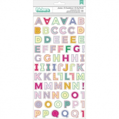 Alphabet chipboard autocollant OH MY HEART
