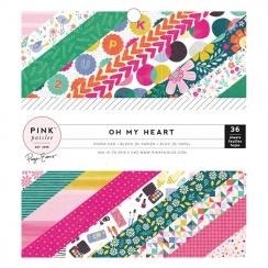 Bloc papiers imprimés 15 x 15 OH MY HEART