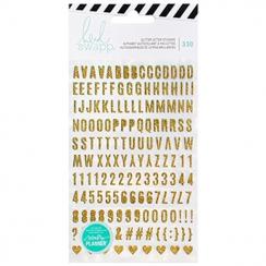 Alphabets autocollants pailleté GLITTER