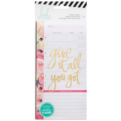 Bloc notes et intercalaire pour Memory Planner MEAL/EXERCISE