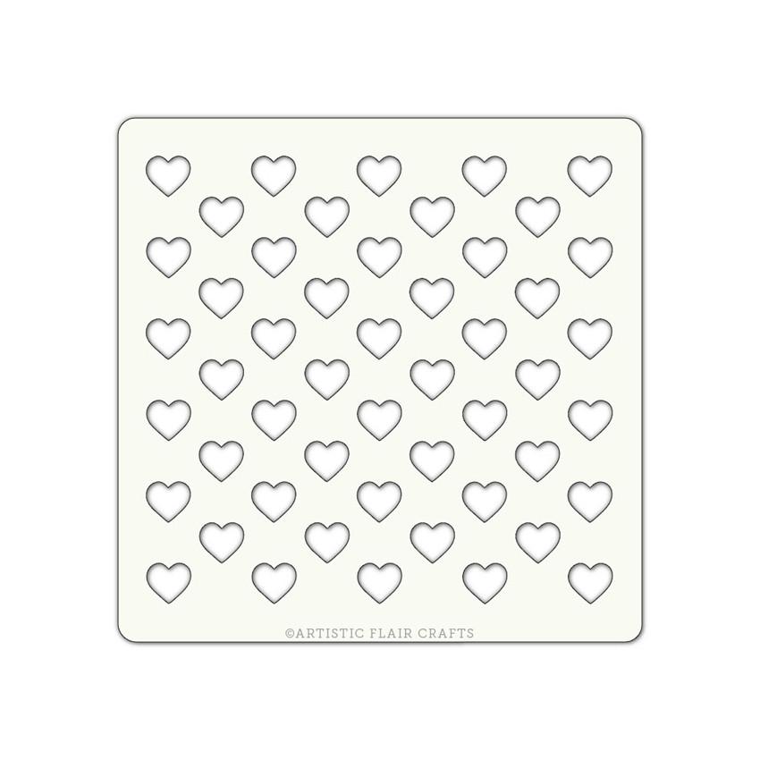 Pochoir 10 x 10 FULL OF LOVE