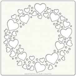 Pochoir 15 x 15 CIRCLE OF LOVE