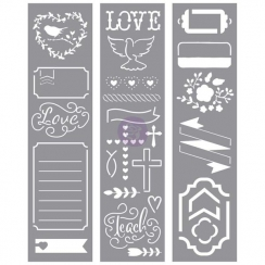 Pochoirs pour planner LOVE FAITH SCRAP