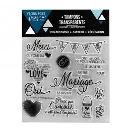 PROMO de -60% sur Tampons clear NOTRE MARIAGE Florilèges Design