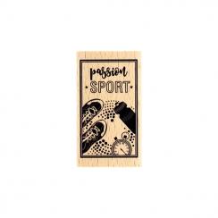 PROMO de -99.99% sur Tampon bois PASSION SPORT Florilèges Design