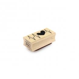 Tampon bois CŒUR BATTANT par Florilèges Design. Scrapbooking et loisirs créatifs. Livraison rapide et cadeau dans chaque comm...