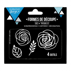 Outils de découpe ROSES par Florilèges Design. Scrapbooking et loisirs créatifs. Livraison rapide et cadeau dans chaque comma...