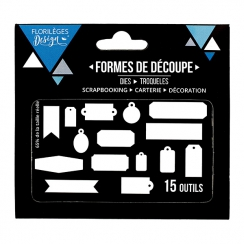 Outils de découpe QUINZE ÉTIQUETTES par Florilèges Design. Scrapbooking et loisirs créatifs. Livraison rapide et cadeau dans ...