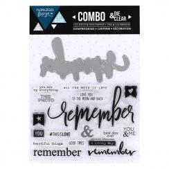 Combo Clear Die REMEMBER par Florilèges Design. Scrapbooking et loisirs créatifs. Livraison rapide et cadeau dans chaque comm...