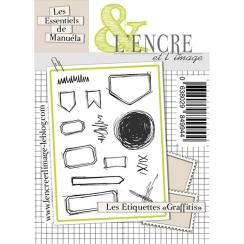Tampons clear LES ÉTIQUETTES GRAFFITIS par L'Encre et l'Image. Scrapbooking et loisirs créatifs. Livraison rapide et cadeau d...