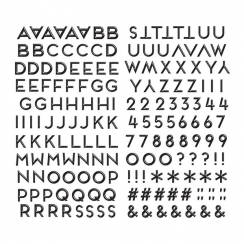 Alphabet stickers Puffy Sweet Nothing BLACK