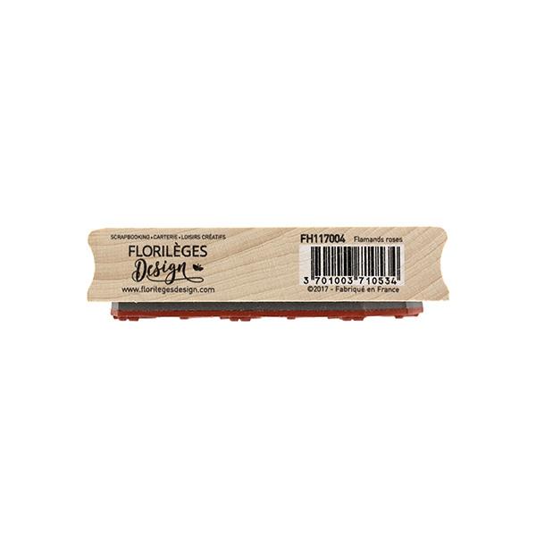 Tampon bois FLAMANDS ROSES