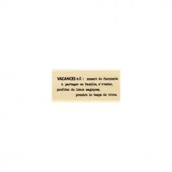 PROMO de -20% sur Tampon bois DÉFINITION VACANCES Florilèges Design