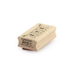 PROMO de -60% sur Tampon bois BANDEROLE ÉTÉ Florilèges Design