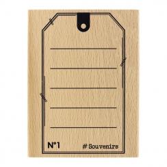 Tampon bois TAG SOUVENIRS par Florilèges Design. Scrapbooking et loisirs créatifs. Livraison rapide et cadeau dans chaque com...
