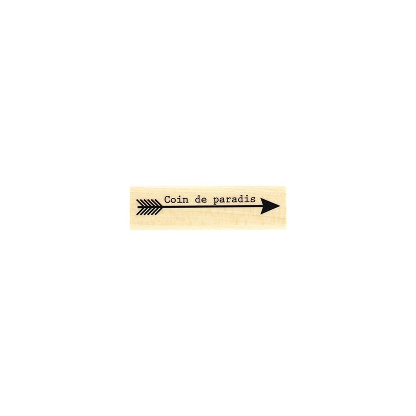 Tampon bois FLÈCHE AU PARADIS par Florilèges Design. Scrapbooking et loisirs créatifs. Livraison rapide et cadeau dans chaque...