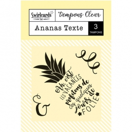 Tampon Clear Ananas Texte