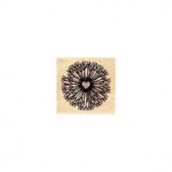 Tampon bois FLEUR EN CŒUR par Florilèges Design. Scrapbooking et loisirs créatifs. Livraison rapide et cadeau dans chaque com...