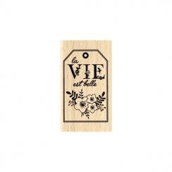 Tampon bois VIE EN FLEURS par Florilèges Design. Scrapbooking et loisirs créatifs. Livraison rapide et cadeau dans chaque com...