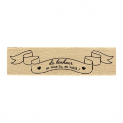 Tampon bois BANNIÈRE DU BONHEUR par Florilèges Design. Scrapbooking et loisirs créatifs. Livraison rapide et cadeau dans chaq...