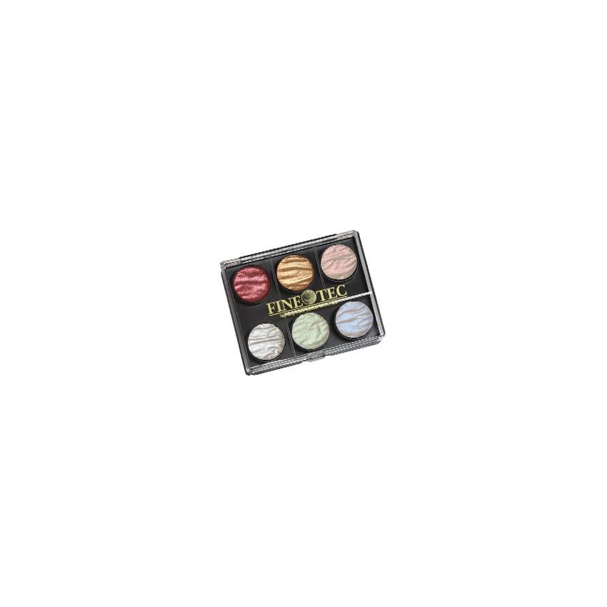 Petite boite d'aquarelles métallisées PEARL COLORS