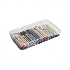 Boite de rangement compartimentée pour feutres et crayons