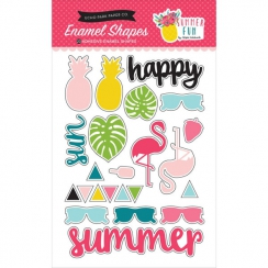 Embellissements émaillés Dots SUMMER FUN SHAPES