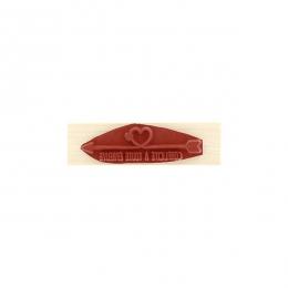 Tampon bois FLÈCHE COMPLICITÉ par Florilèges Design. Scrapbooking et loisirs créatifs. Livraison rapide et cadeau dans chaque...