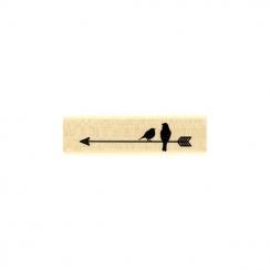 Tampon bois DUO D'OISEAUX par Florilèges Design. Scrapbooking et loisirs créatifs. Livraison rapide et cadeau dans chaque com...