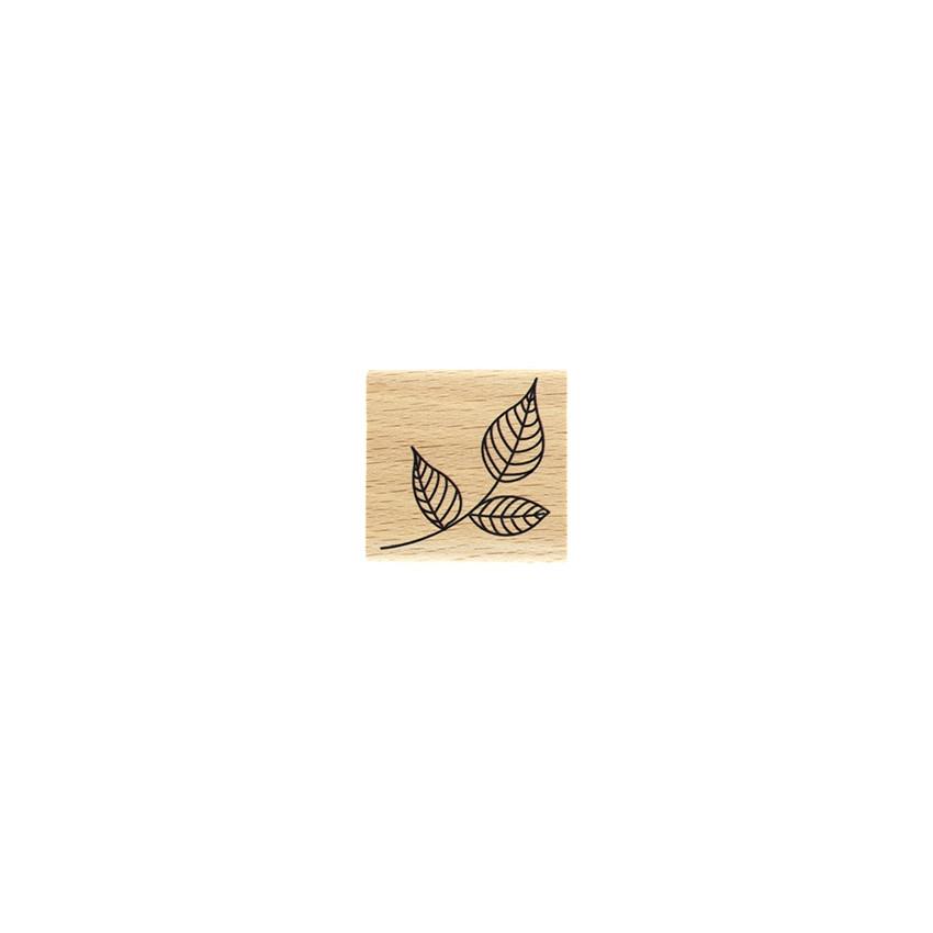 Tampon bois PETIT FEUILLAGE par Florilèges Design. Scrapbooking et loisirs créatifs. Livraison rapide et cadeau dans chaque c...