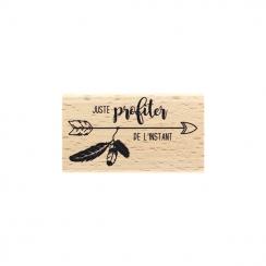 Tampon bois PROFITER DE L'INSTANT par Florilèges Design. Scrapbooking et loisirs créatifs. Livraison rapide et cadeau dans ch...
