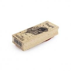 Tampon bois PLUME DE PAON
