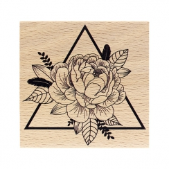 Tampon bois TRIANGLE FLORAL