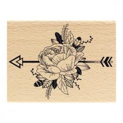 PROMO de -40% sur Tampon bois PIVOINE ETHNIQUE Florilèges Design