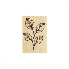 Tampon bois FEUILLAGE ESQUISSÉ par Florilèges Design. Scrapbooking et loisirs créatifs. Livraison rapide et cadeau dans chaqu...