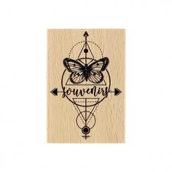 PROMO de -20% sur Tampon bois PAPILLON DU SOUVENIR Florilèges Design