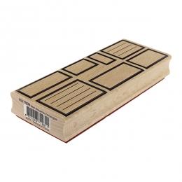 Tampon bois SEPT ÉTIQUETTES RECTANGLES par Florilèges Design. Scrapbooking et loisirs créatifs. Livraison rapide et cadeau da...