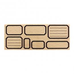 Tampon bois SEPT ÉTIQUETTES ECOLE par Florilèges Design. Scrapbooking et loisirs créatifs. Livraison rapide et cadeau dans ch...