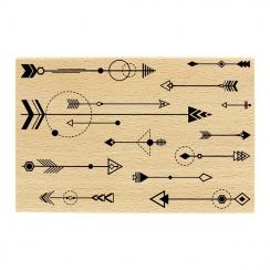 Tampon bois FANTAISIE DE FLÈCHES par Florilèges Design. Scrapbooking et loisirs créatifs. Livraison rapide et cadeau dans cha...