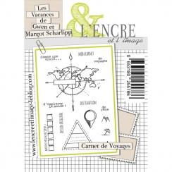 Tampons clear CARNET DE VOYAGE par L'Encre et l'Image. Scrapbooking et loisirs créatifs. Livraison rapide et cadeau dans chaq...