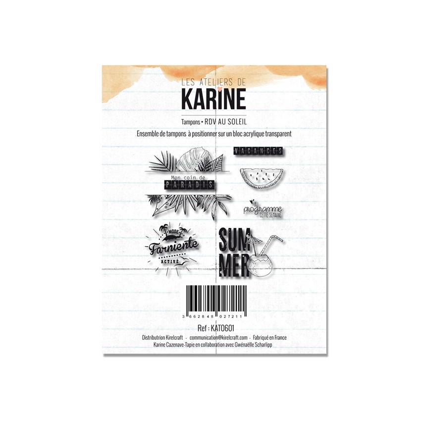 Tampons clear RDV AU SOLEIL par Les Ateliers de Karine. Scrapbooking et loisirs créatifs. Livraison rapide et cadeau dans cha...