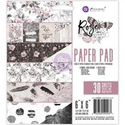 Bloc papiers imprimés 15x15 cm ROSE QUARTZ