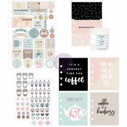 Set d'embellissements pour planner COFFEE AND TEA LOVERS