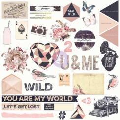 Chipboards et sequins WILD AND FREE